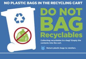 no longer taking plastic bags for curbside recycling