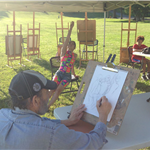 life drawing in the park