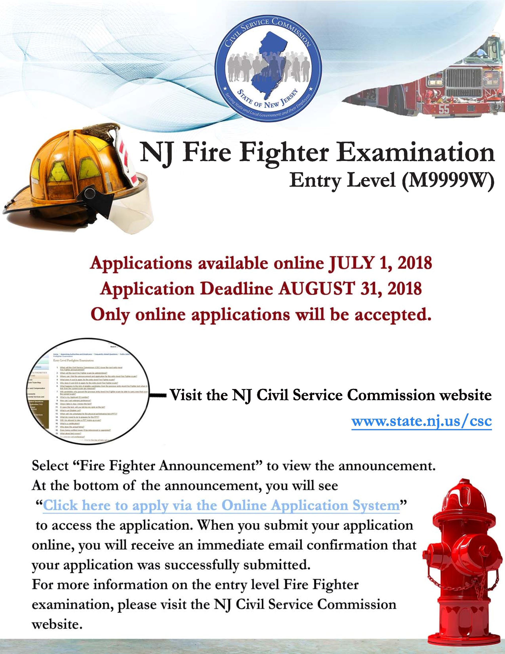 Fire Figher Exam Flier