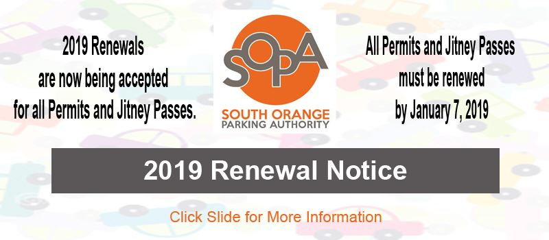 Parking Permit Renewal Notice 2019