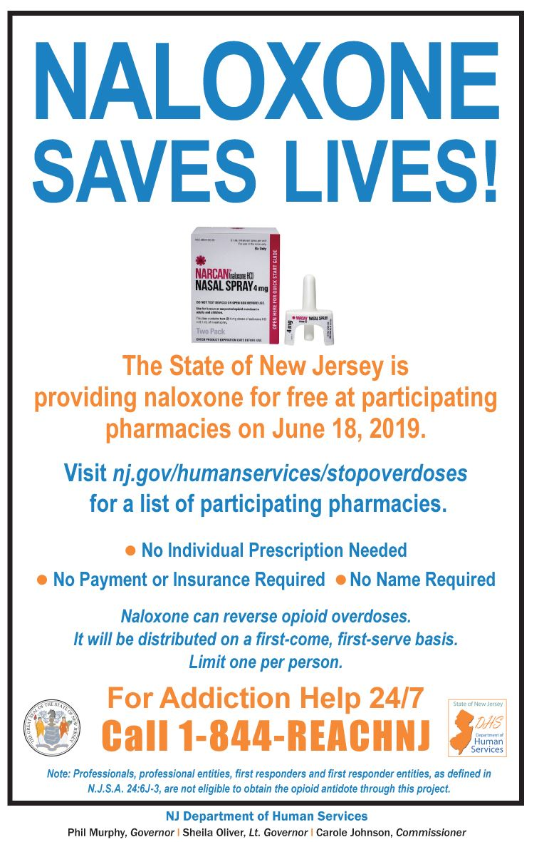 Narcan Announcement Sign 0619