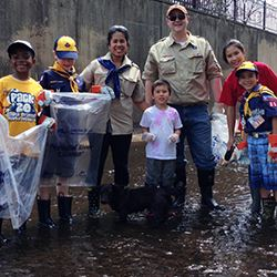 Cub Scouts in River